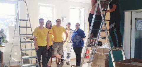 Global Volunteer Day: Wer will fleißige Handwerker sehen? – Baustelle Foyer